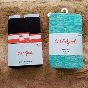 Cat & Jack tights NWT